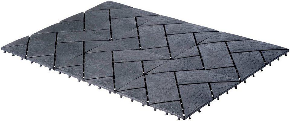 UPP Terrassenplatte 30x30 cm, Kunststoff in Schieferpoptik, 6 Platten  (0,54m²) online kaufen | OTTO