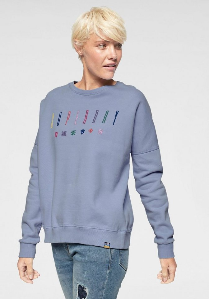 new styles 0badb c0655 Superdry Sweatshirt »CARLY CARNIVAL EMBROIDERED CREW« im Rainbow-Design  online kaufen | OTTO