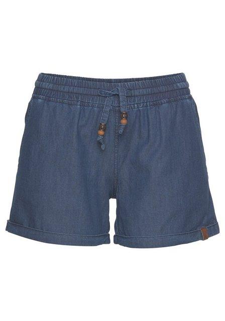 Hosen - Alife Kickin Jeansshorts »JaneAK« kurze Hose in Stretchqualität mit Zierperlen › blau  - Onlineshop OTTO