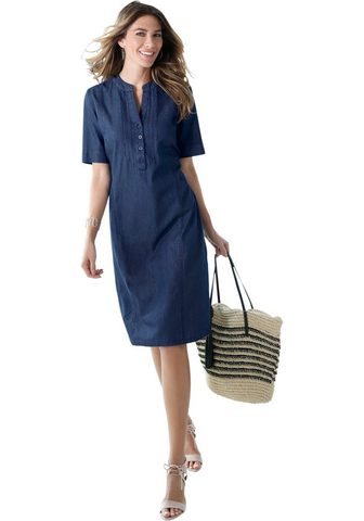 CLASSIC BASICS Džinsinė suknelė su dekoratyvus Biesen...