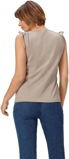 Der Shirttop Schulterpartie Bindeband Mit Basics Classic An vqB66X