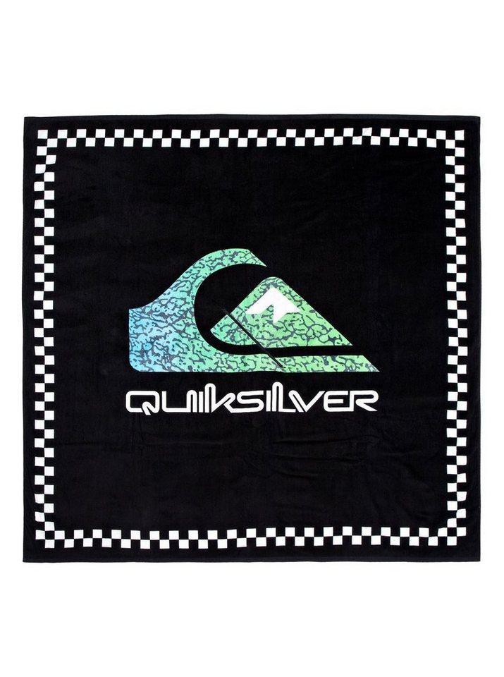 Damen Quiksilver  Fleeceponcho Towel schwarz | 03613374267749