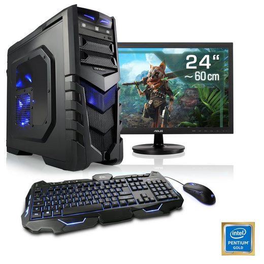 "CSL Gaming PC Set Pentium G5400, GTX 1050 Ti, 16 GB DDR4, 24"" TFT »Speed T1663 Windows 10 Home«"