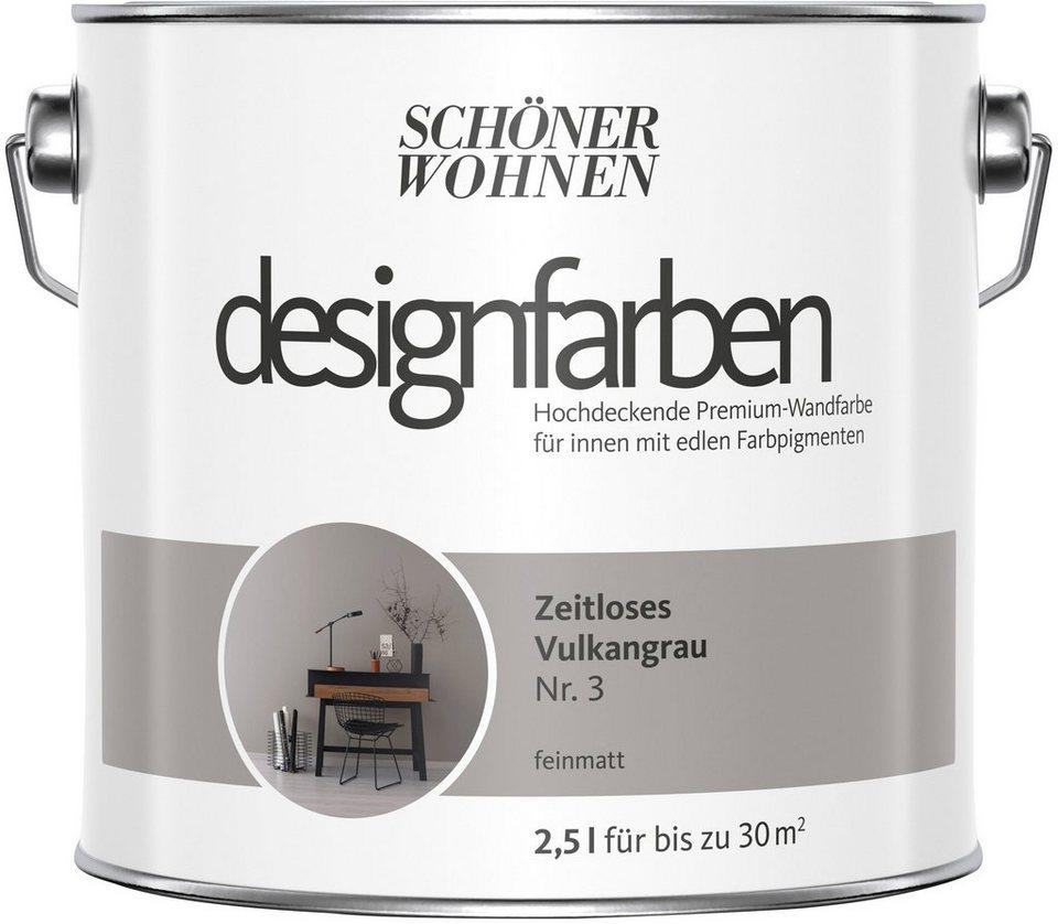 SCHÖNER WOHNEN FARBE Farbe »Designfarben«, Zeitloses Vulkangrau Nr. 3,  feinmatt 2,5 l online kaufen   OTTO