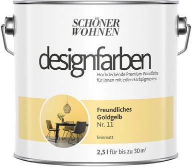 SCHÖNER WOHNEN FARBE Farbe »Designfarben«, Freundliches Goldgelb Nr. 11, feinmatt 2,5 l