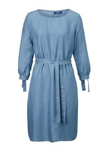 CONLEYS BLUE Džinsinė suknelė su Bindedetail