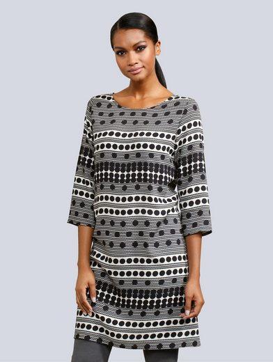 Alba Moda Kleid mit wunderschönem Punkte-Dessin
