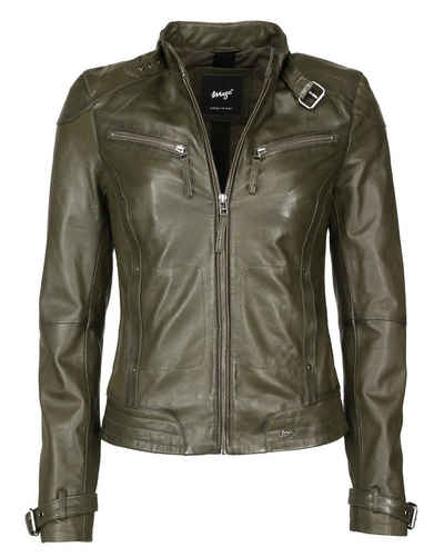 new style d2317 230d5 Damen Lederjacke in grün online kaufen | OTTO