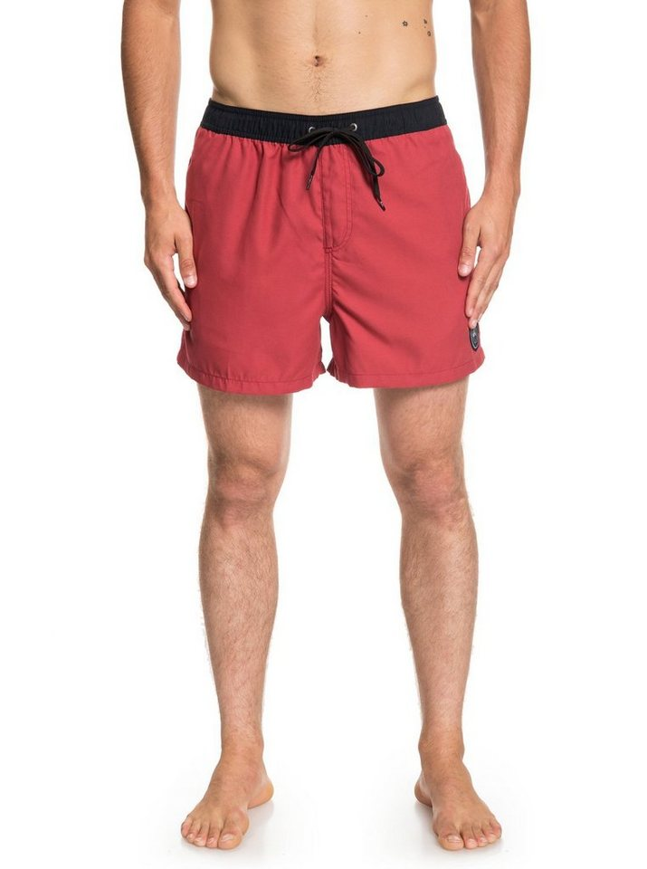 Herren Quiksilver  Boardshorts Sunbaked 15 rot | 03613374275942