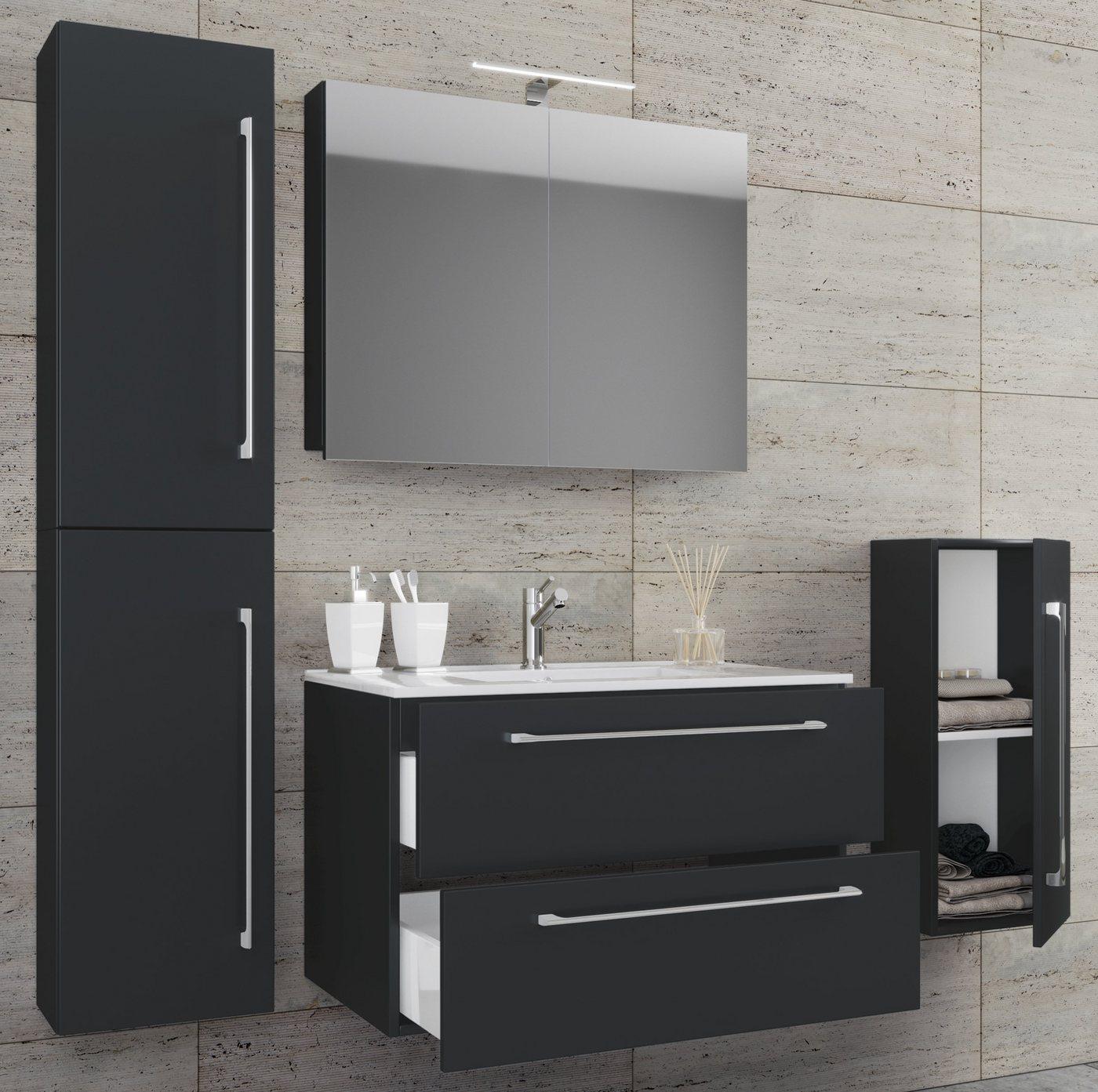 Spiegel - VCM 5 tlg. Waschplatz mit Spiegelschrank ''Badinos''  - Onlineshop OTTO