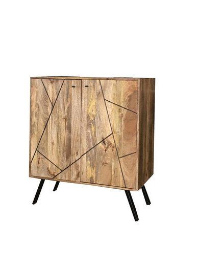 KAWOLA Barschrank aus Mangoholz »ARIA«