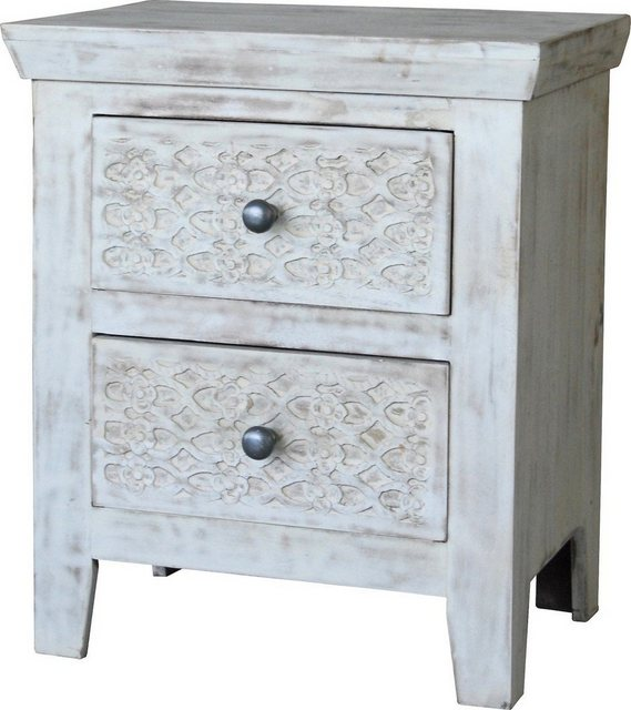 KAWOLA Nachttisch mit Schubladen »MANDA« | Schlafzimmer > Nachttische | Weiß | KAWOLA