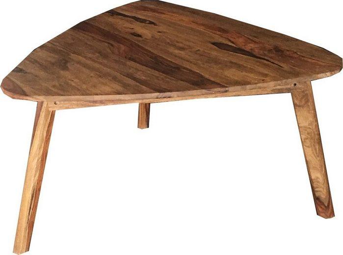 KAWOLA Couchtisch dreieck Holz »KERO«