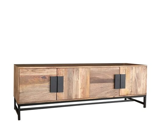 KAWOLA Lowboard aus Mangoholz mit Türen »GRIA«