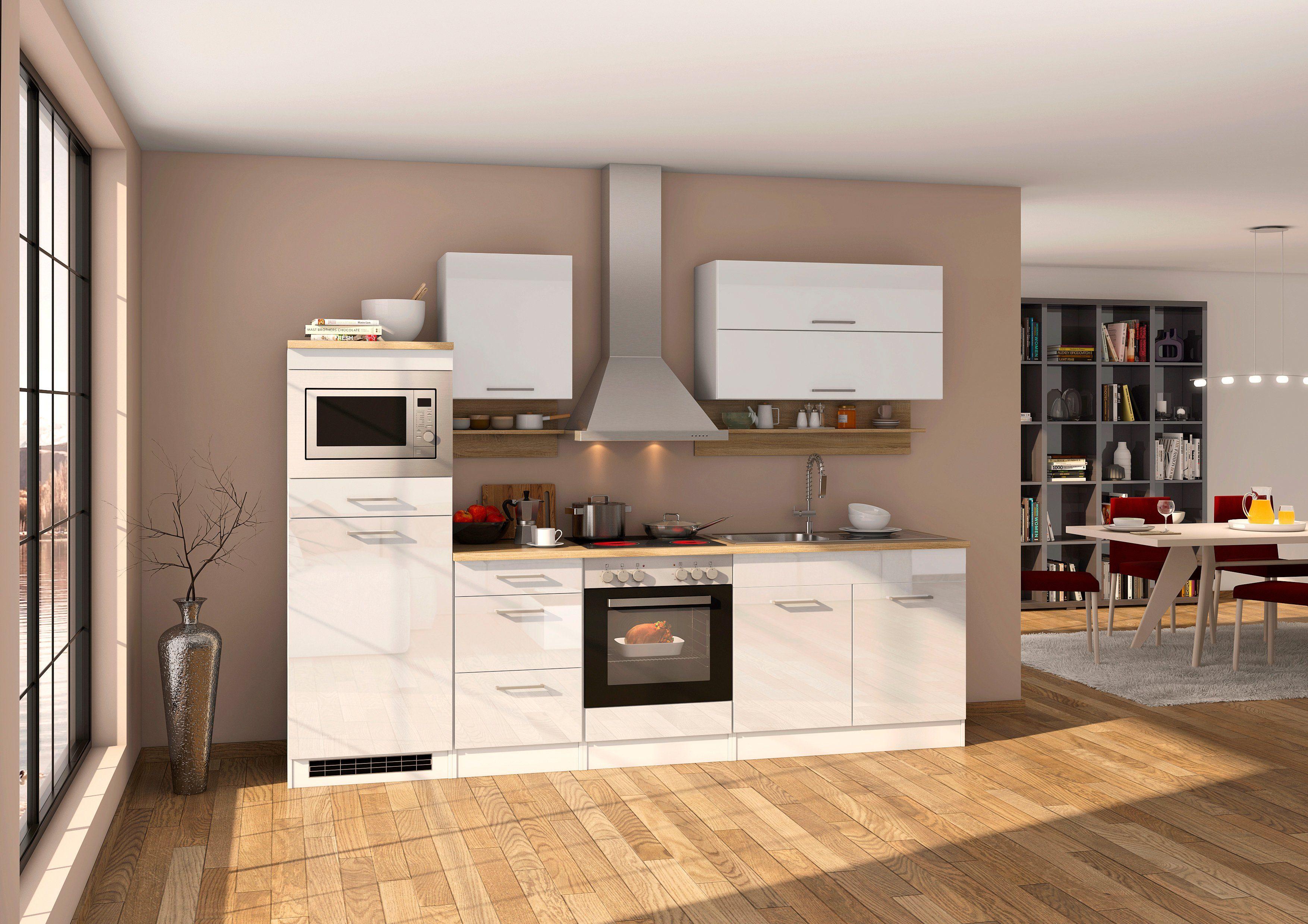 HELD MÖBEL Küchenzeile »Mailand«, mit Elektrogeräten, Breite 270 cm