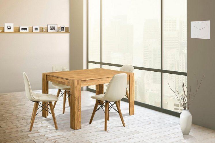Home affaire Essgruppe »Elena«, (Set, 5 tlg), bestehend aus 4 Stühlen und einem Esstisch, Esstischbreite 140 cm