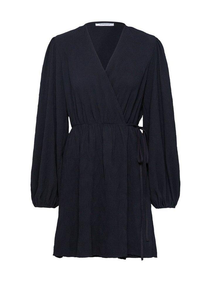 glamorous -  Minikleid »Ladies Dress-Black Plisse« gerafft