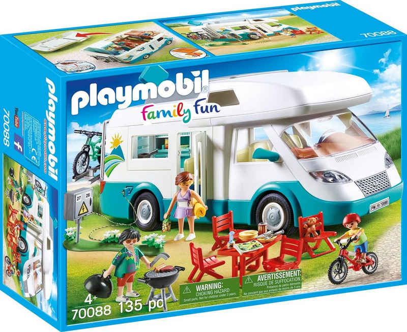 Playmobil® Konstruktions-Spielset »Familien-Wohnmobil, Family Fun«, (135 St), Made in Europe