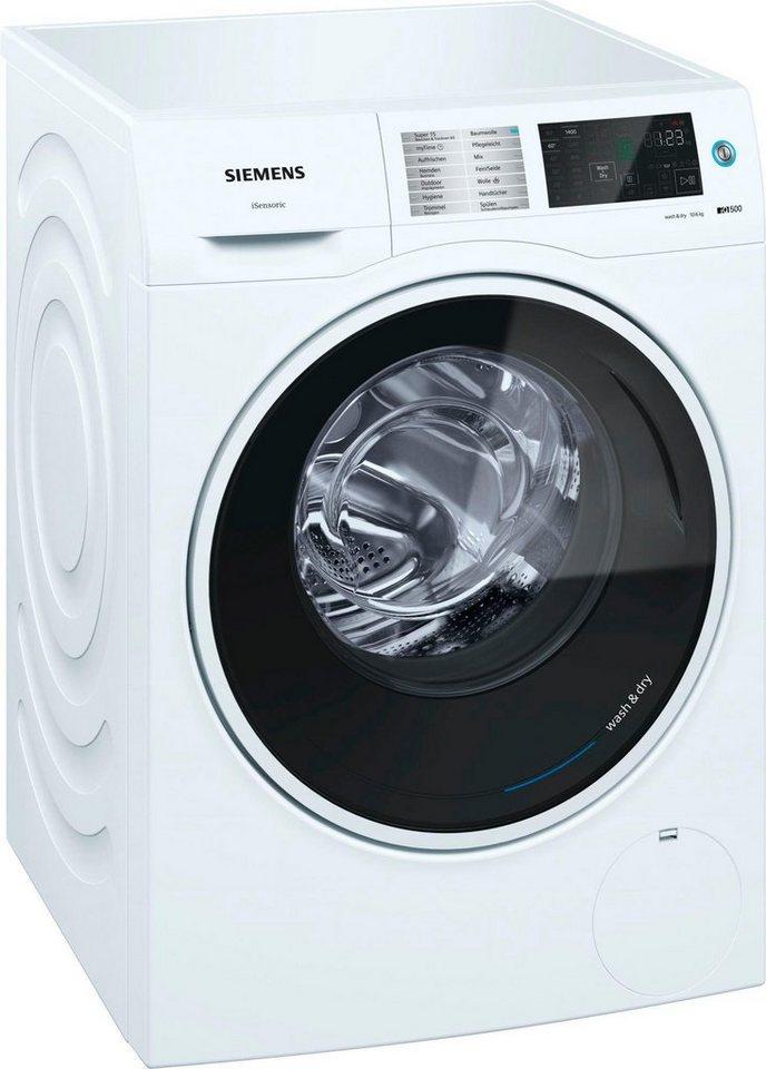 siemens waschtrockner iq500 wd14u510 10 kg 6 kg 1400 u min online kaufen otto