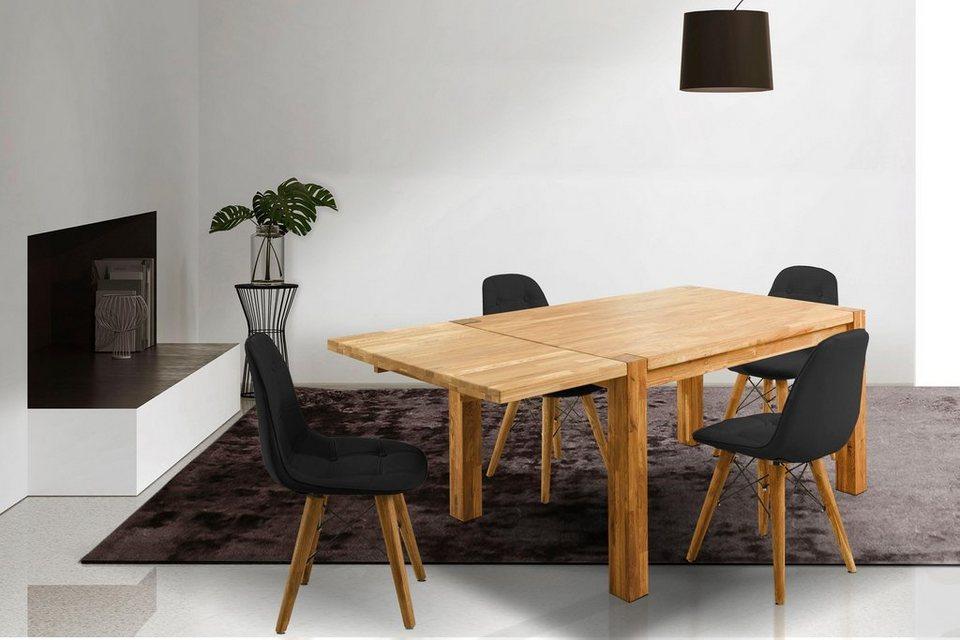 home affaire essgruppenset tim bestehend aus 4 stuhlen und einem esstisch esstischbreite 140