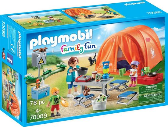 Playmobil® Konstruktions-Spielset »Familien-Camping (70089), Family Fun«, Made in Germany