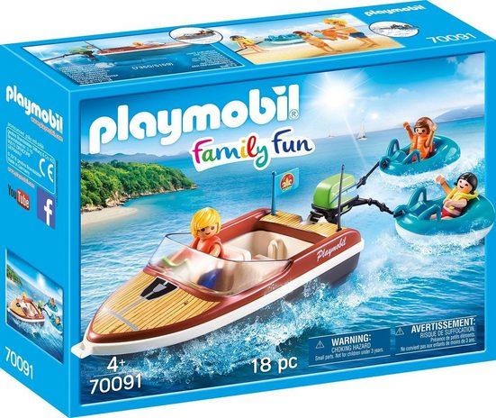 Playmobil® Konstruktions-Spielset »Sportboot mit Fun-Reifen, »Family Fun««, Made in Germany