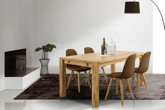 Home affaire Essgruppe »Tim«, (Set, 5-tlg), bestehend aus 4 Stühlen und einem Esstisch, Esstischgröße 180 cm