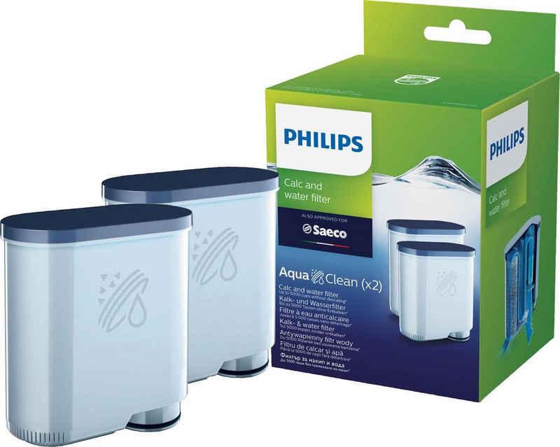Saeco Wasserfilter AquaClean CA6903/22, Zubehör für für Philips und Saeco Kaffeevollautomaten, Doppelpack
