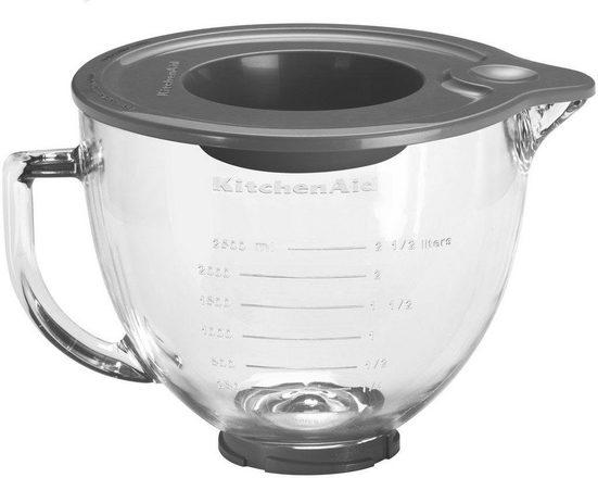 KitchenAid Küchenmaschinenschüssel »5KSM5GB für Küchenmaschine 4.3L & 4.8L«, Glas