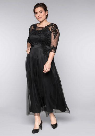 Sheego Abendkleid mit weit ausgestelltem Rockteil