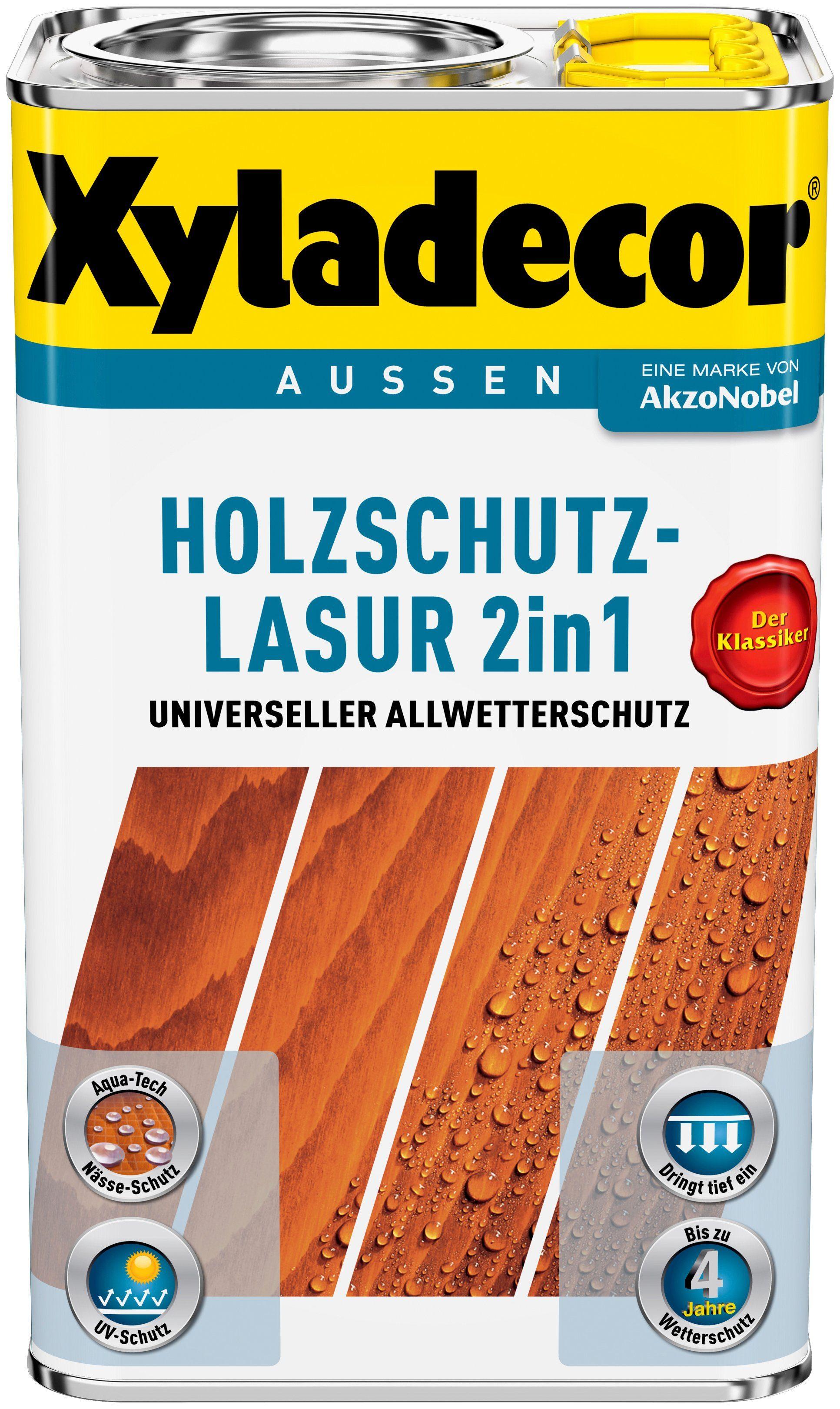 XYLADECOR Holzschutz-Lasur »2 in 1«, Palisander, 5 Liter