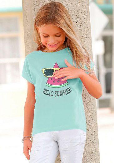 Arizona T-Shirt »HELLO SUMMER« mit Wendepaillettenmotiv
