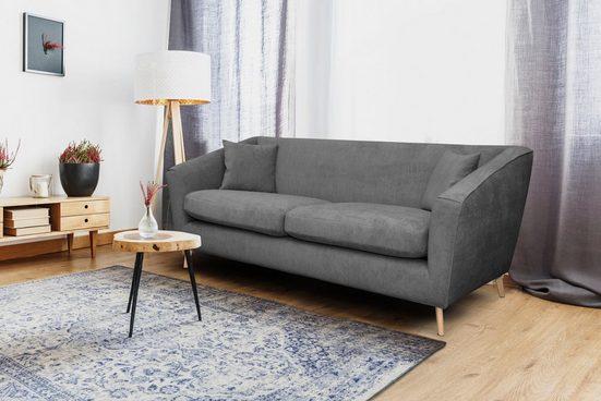 Home affaire 3-Sitzer »Lea«, mit Kedernaht und Holzfüßen