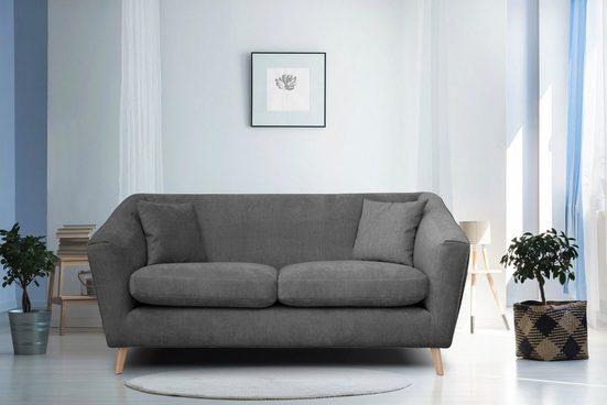 Home affaire 2-Sitzer »Lea«, mit Kedernaht und Holzfüßen