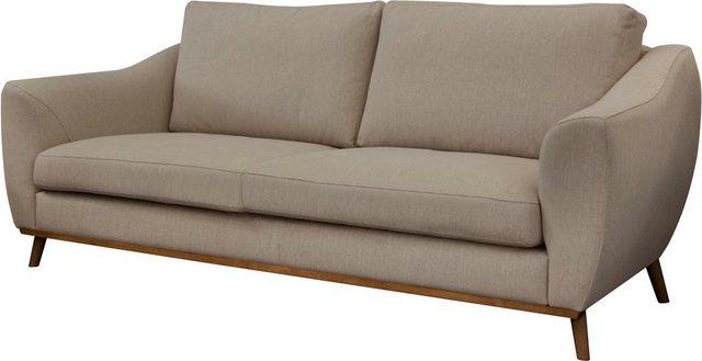 Sofas - DELAVITA 3 Sitzer »Sarah«, in skandinavischem Design mit Holzbeinen  - Onlineshop OTTO