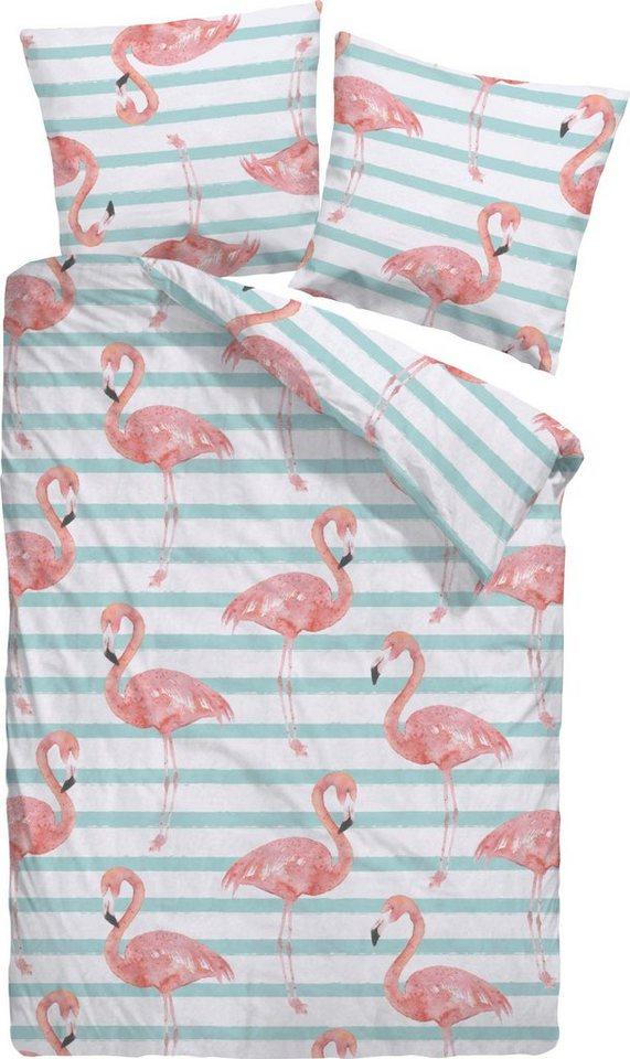 Bettwäsche Flamingo Dormisette Modern Kaufen Otto