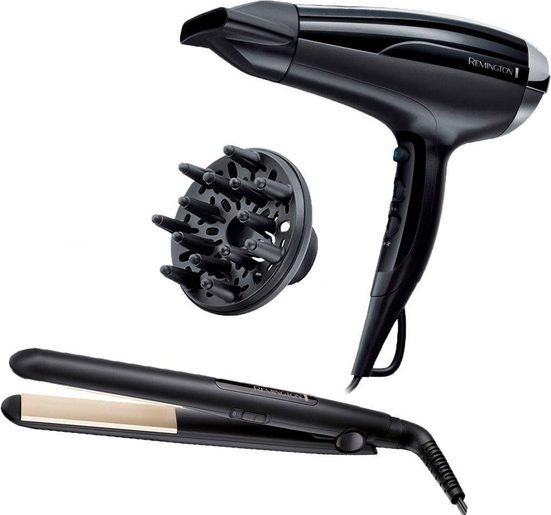 Remington Haartrockner D5215GP, 2300 W, Geschenkset bestehend aus Haartrockner & Haarglätter
