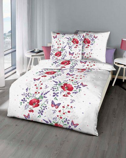 Bettwäsche »Marie«, Kaeppel, mit Blüten und Schmetterlingen bedruckt