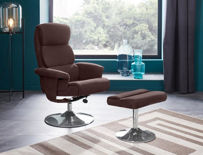 Places of Style Relaxsessel mit Hocker »Boston« mit vielen Funktionen, in zwei verschiedenen Bezugsqualitäten verfügbar