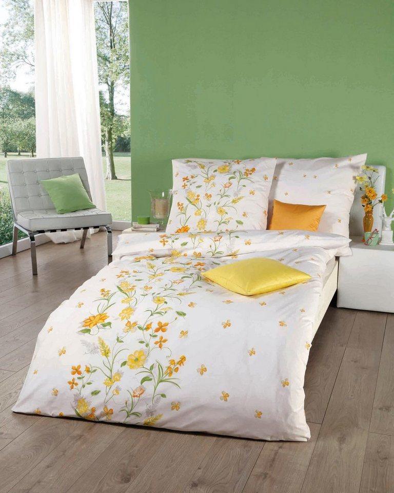 Bettwäsche Viola Kaeppel Mit Blumen Und Schmetterlingen Bedruckt