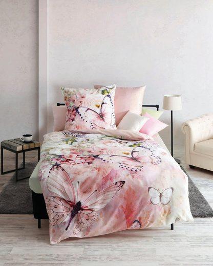 Bettwäsche »Butterfly Dream«, Kaeppel, mit Schmetterlingen und Blumen