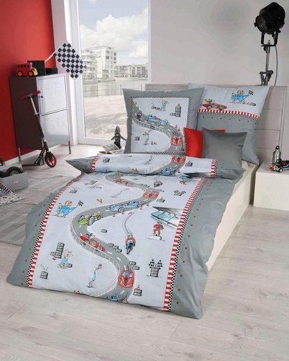 Kinderbettwäsche »Rennfahrer«, Kaeppel, mit Rennautos