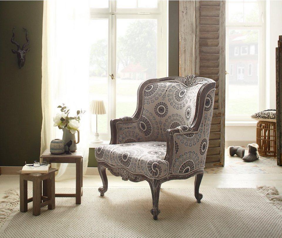 home affaire sessel jamal aus sch nem leinenstoff mit. Black Bedroom Furniture Sets. Home Design Ideas