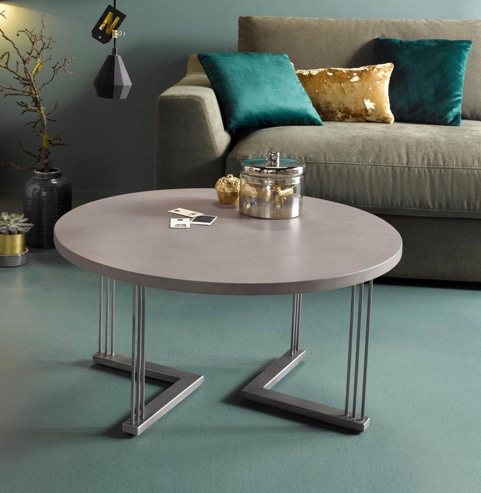inosign couchtisch steph mit sch nem metallgestell. Black Bedroom Furniture Sets. Home Design Ideas
