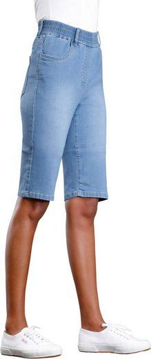 bleached Basics Classic Blue Hohem Jeans Mit Rundum dehnbund bermudas 8ZNPn0OkXw