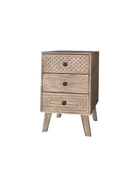 KAWOLA Nachttisch mit Schubladen »IRMA« | Schlafzimmer > Nachttische | Braun | KAWOLA