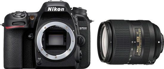 Nikon »D7500 +AF-S DX 18-300 VR« Spiegelreflexkamera (Nikon AF-S DX NIKKOR 18–300 mm 1:3,5–6,3G ED VR, 20,9 MP, WLAN (Wi-Fi), Bluetooth)