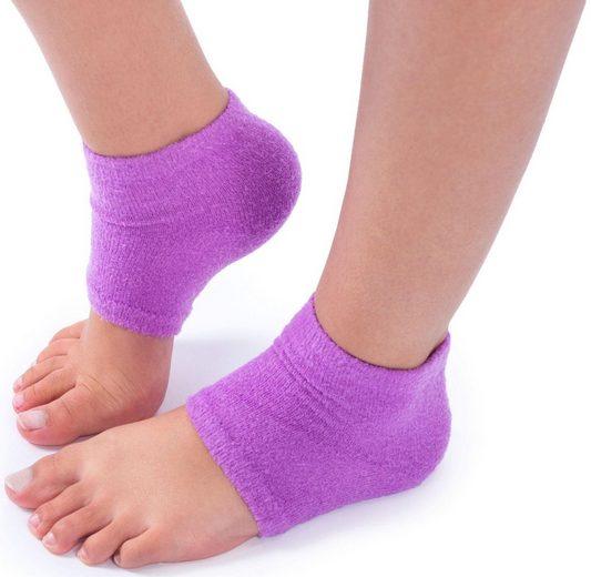 Maximex Funktionssocken »feuchtigkeitsspendende Fersensocken 93446« (1 Paar) Glatte Fersen - gepflegte Füße