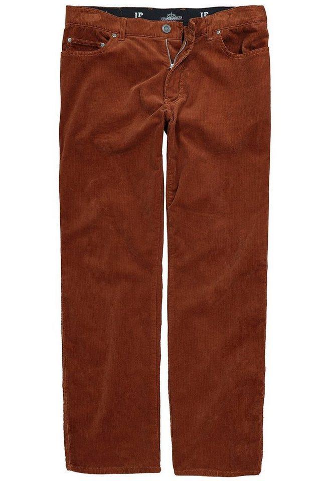 JP1880 5-Pocket-Jeans bis 66, Cordhose, Herrenhose, 5-Pocket, Regular Fit, Zipper, Bundband, Stretch, Baumwolle | Bekleidung > Hosen > Cordhosen | Orange | JP1880