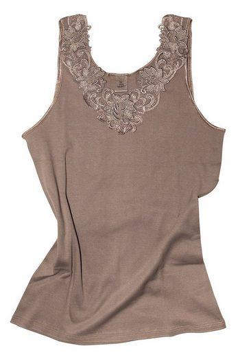 Cotton Prime® Unterhemd »mit Spitze«, in angenehmer Baumwollqualität